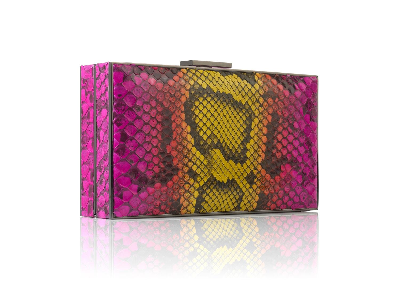 Peonia Python rectangular handbag