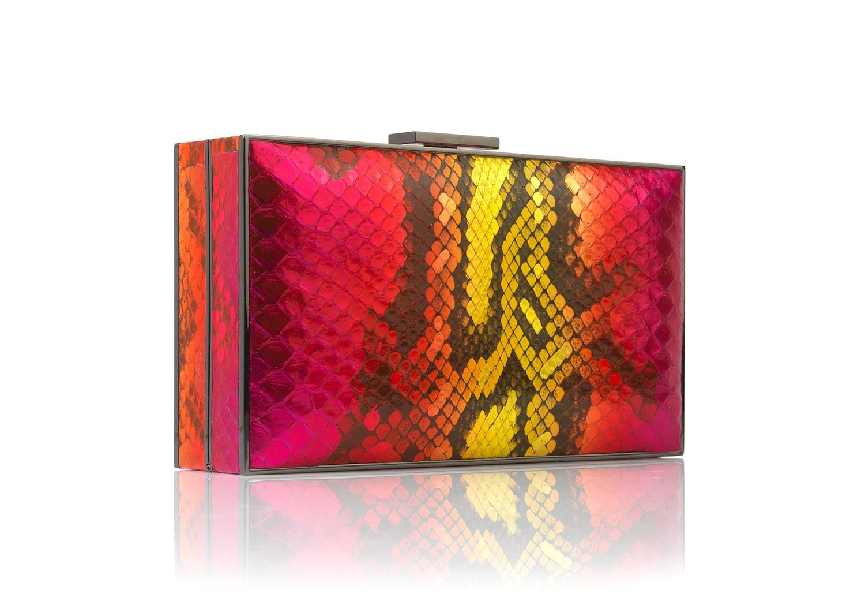 Wild Orchid Python rectangular handbag