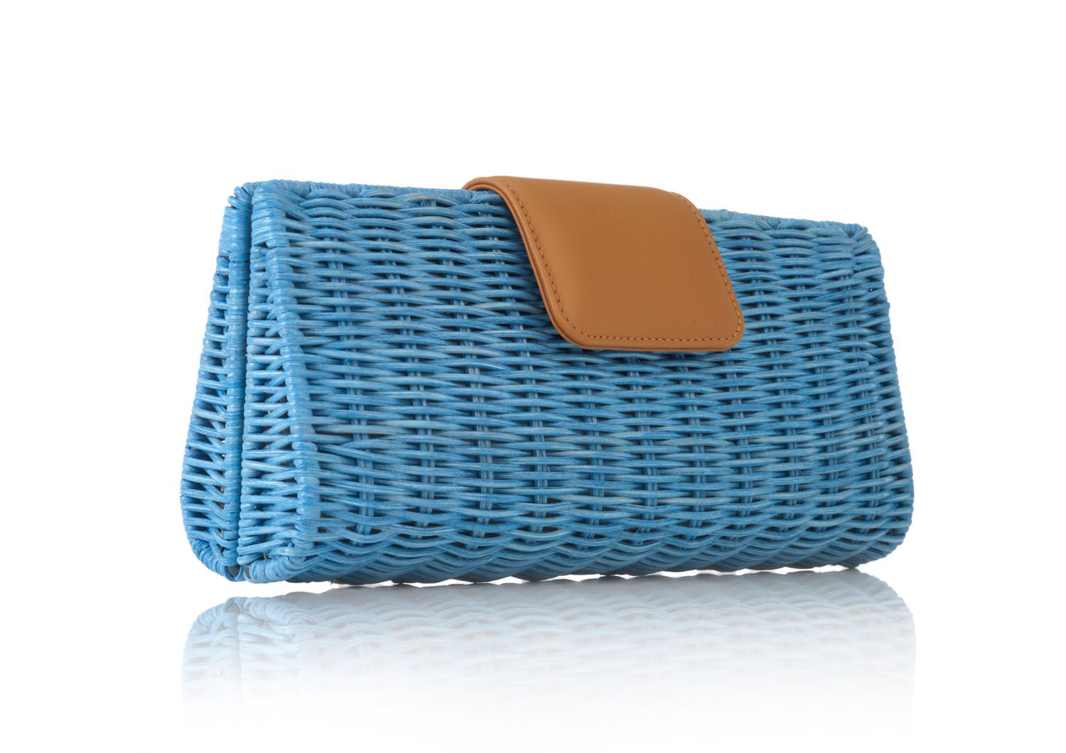 Woven Wicker Clutch in Long Shape