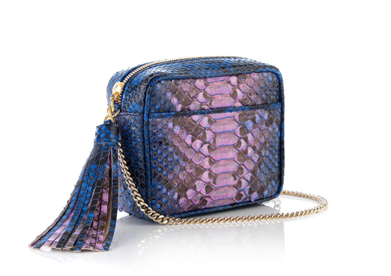 PYTHON ZIP BAG WITH CHAIN