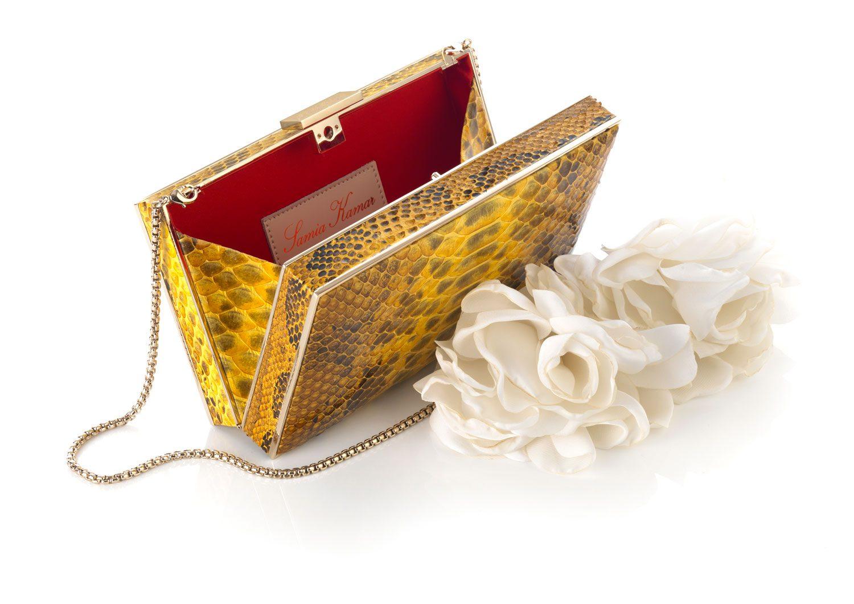 RECTANGULAR METAL BOX PYTHON & FLOWER HANDLE
